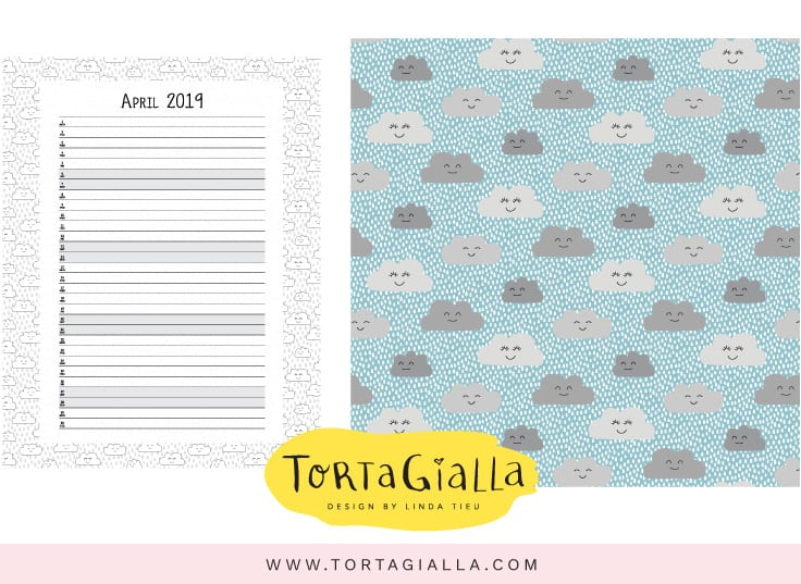 Patreon April calendar printables - exclusive feed for supporters - find me on patreon.com/tortagialla