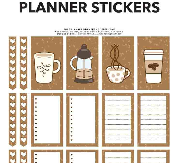 Coffee Themed Planner Stickers