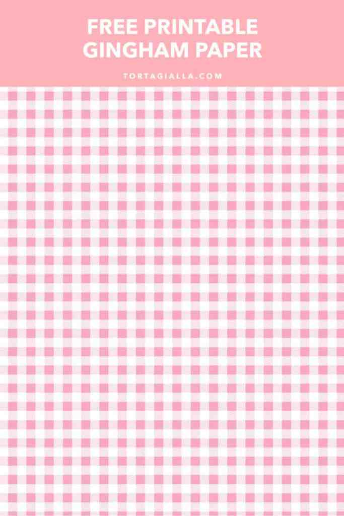 Free Printable Gingham Paper in Spring Colors | tortagialla.com