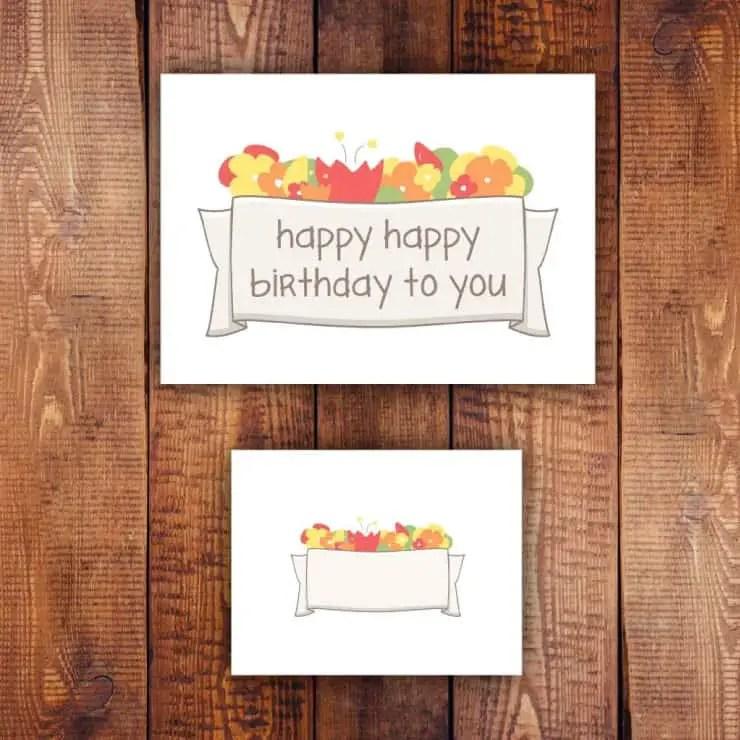 Spring Card Printables