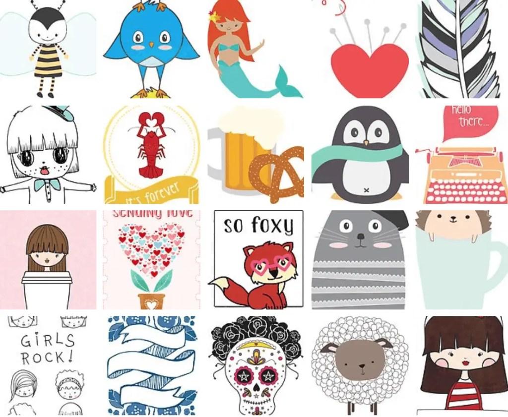 my redbubble shop of sticker designs