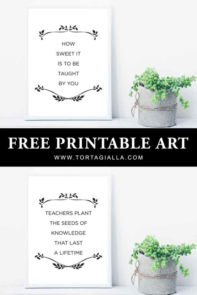 Pair these printable teacher appreciate quotes with candy or a pretty plant to make easy gifts for all the teachers in your life. These free printable quotes can be used in DIY projects from wall art to cards to tags and more!