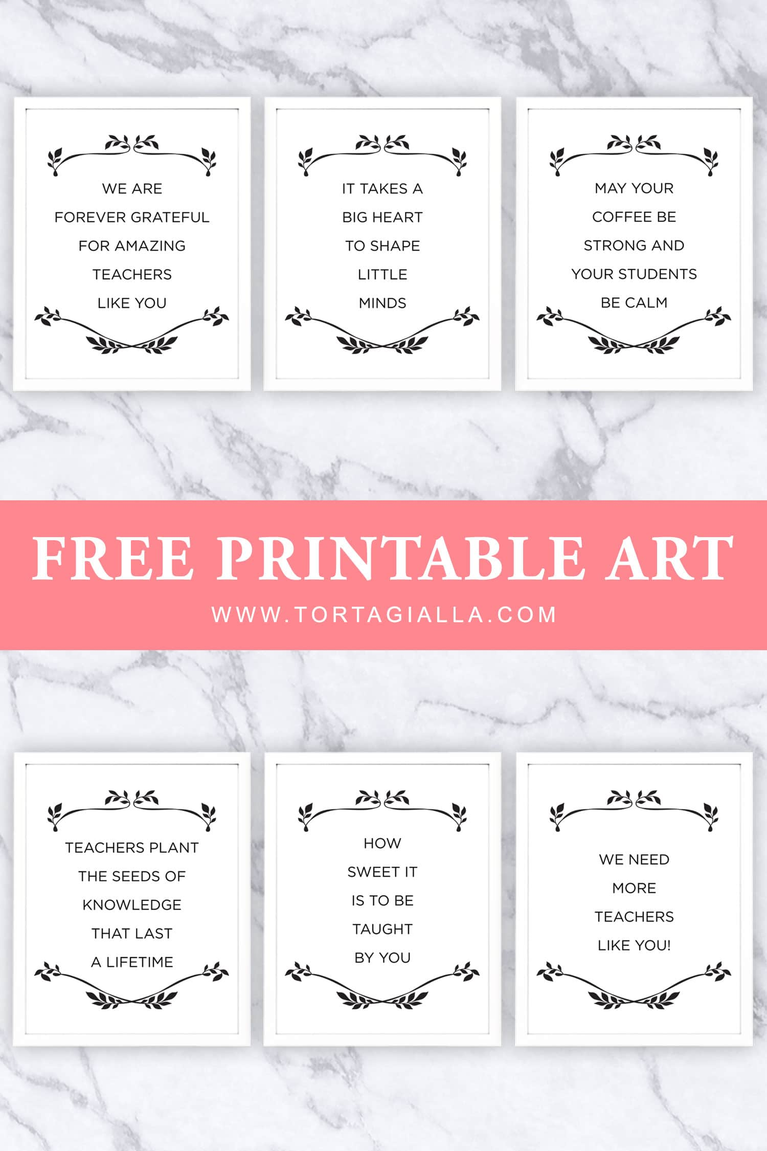 graphic regarding Free Printable Teacher Appreciation Tags named Absolutely free Printable Trainer Appreciation Quotations tortagialla
