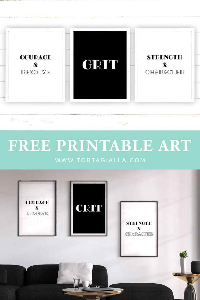 FREE Grit Printables for Motivation and Inspiration in your desk and office space. Download and print your own copies on tortagialla.com
