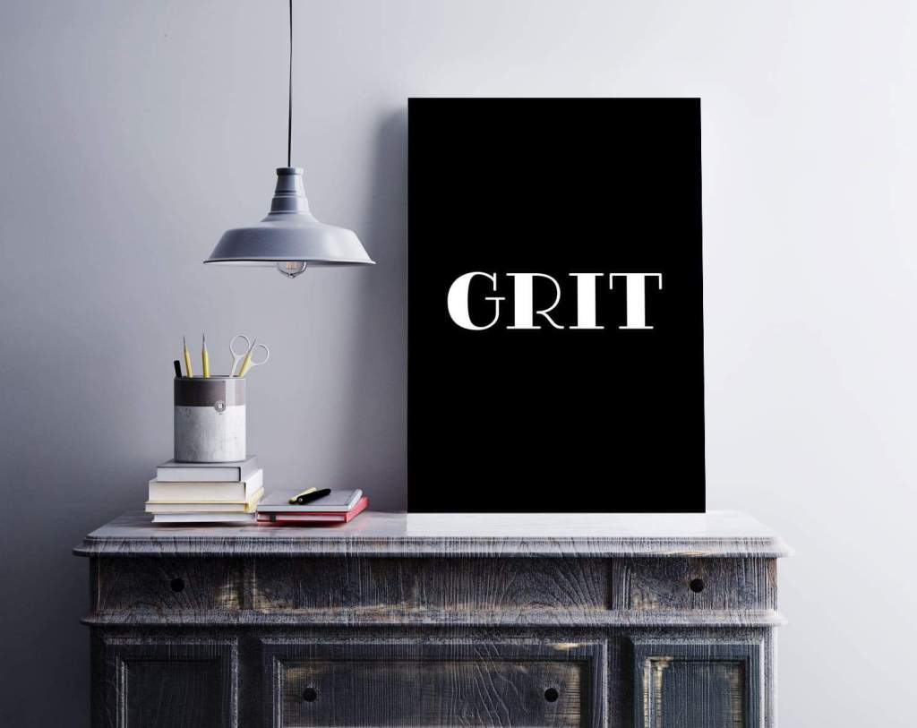 Free GRIT printable set for inspiration and motivation in your office or desk space on tortagialla.com