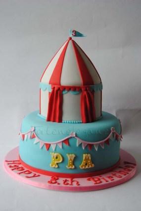 Circus Torte für Pia´s 3.Geburtstag