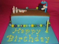 Fast made Bowling Cake for today