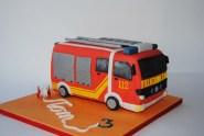 Fire Brigade Truck Cake