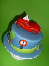 Little Bobby Car Cake- for Max´s 1st Birthday