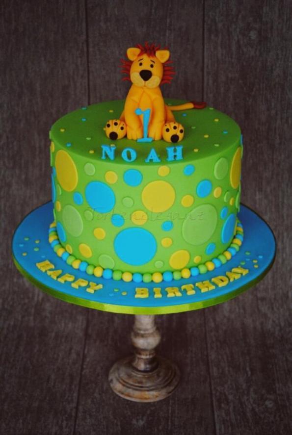 Löwen Kinder Geburtstagstorte zum ersten Geburtstag