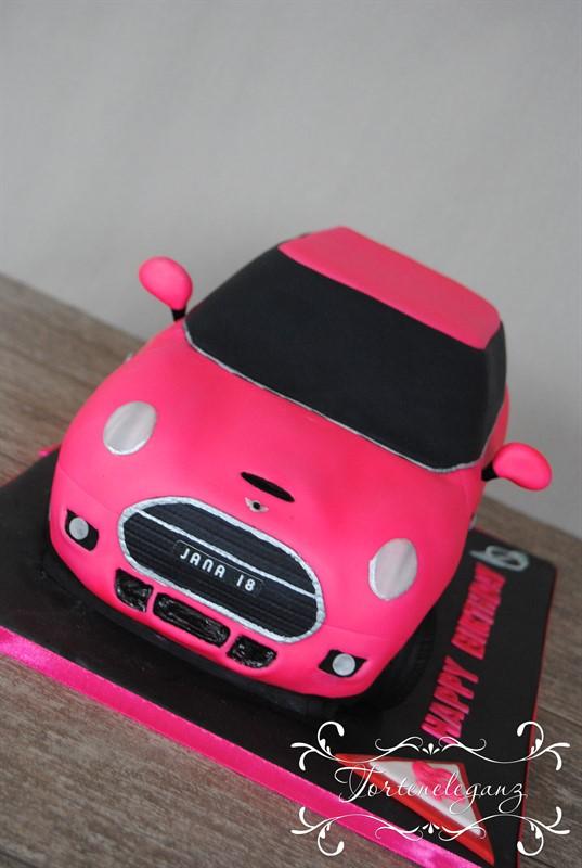 Mini Cooper S 2016 3D Torte Pink