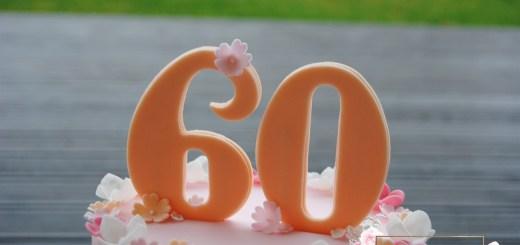 Torte zum 60 Geburtstag die Zahl 60