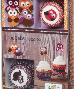 muffin cupcake deco set eule owl