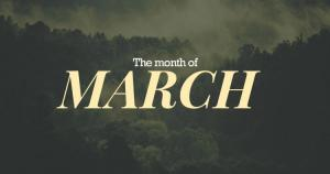 the month of march
