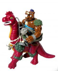Figurine Cave Beast Bebop with Bodacious Brontosaurus 1994 Tortues Ninja TMNT