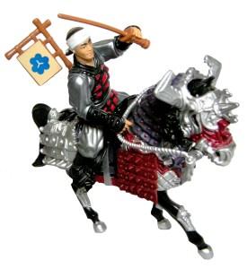 Figurine Cheval Movie III Samurai Evil Warhorse with Castle Guard 1993 Tortues Ninja TMNT