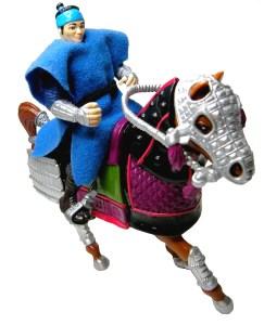 Figurine Samurai Rebel Soldier with rebel warhorse 1993 Tortues Ninja TMNT