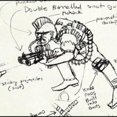 Concept Art Bebop 22.01.1987 Tortues Ninja Turtles TMNT
