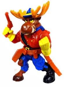 Figurine Monty Moose 1992 Tortues Ninja Turtles TMNT