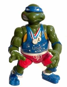 Figurine Track'N Field Leo 1992 Tortues Ninja Turtles TMNT