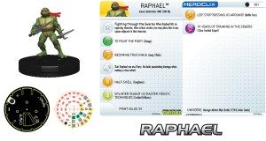 HeroClix fiche Raphael #001 Mirage Comics 2016 Tortues Ninja Turtles TMNT