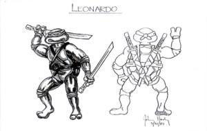 Prototype Croquis Leonardo 31.03.1987 Tortues Ninja Turtles TMNT