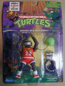 Blister Slam dunkin' Don réédition 1994 1991 Tortues Ninja Turtles TMNT