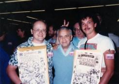 Peter Laird, Jack Kirby et Kevin Eastman à la San Diego Comic Con de 1987