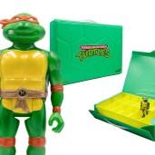 Figurine ReAction Michelangelo metallic Carry Case SDCC 2021 Super7 Tortues Ninja Turtles TMNT_1