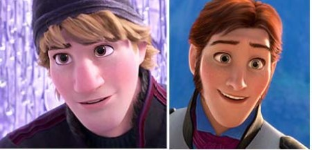 Animated male heroes Frozen Kristoff Hans