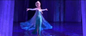 Elsa Frozen strut triumph