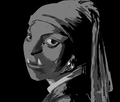 ghoul with a pearl earring