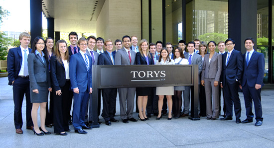 Torys welcomes 27 summer law students to our Toronto ...