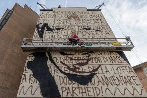 Murale Il condominio dei diritti fase preparatoria 7 foto Francesco Niccolai pic