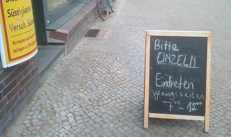 Berlino, Panetteria, coronavirus