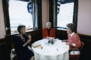 Nancy Reagan all'Harry's Bar, Venezia 1987