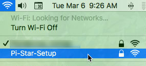 WiFi selector on macOS - first time startup