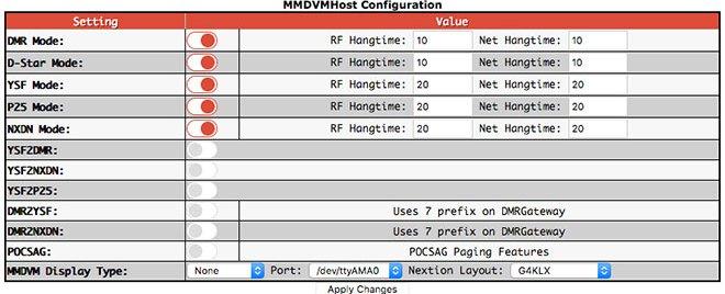 MMDVMHost Configuration settings