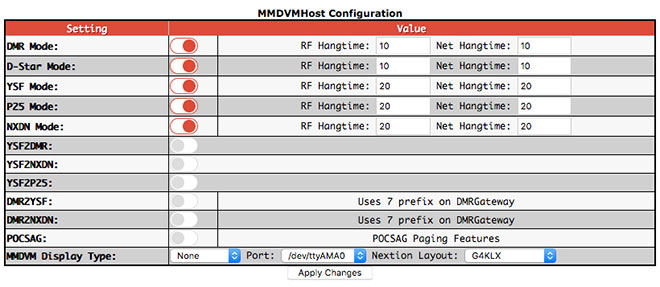 Basic configuration settings - MMDVMHost Configuration