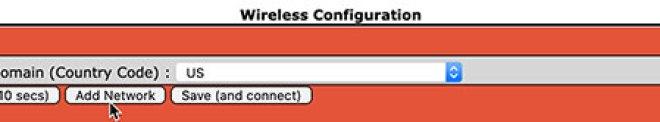 WiFi configuration - add network