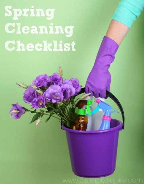 Use this helpful Spring Cleaning Checklist to track your cleaning and mark off items as you go.