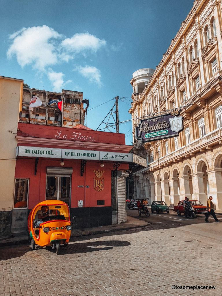 Photo and location of El Floridita in Havana. So you got 3 days in Havana? Make the most of it! Visit the UNESCO Heritage Site of Old Havana, learn about the revolution era, explore the Spanish quarters, wander along the waterfront and drink some daiquiris! Plan your perfect Havana Itinerary right here