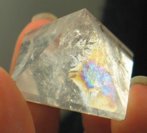 Bright Rainbow Quartz Pyramid