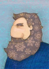 winter bearded man illustration by tostoini