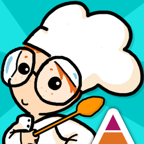 App icon for WORLD Food - educational kids app by Art Stories - Illustration by Tostoini