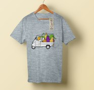 t-shirt Cortilia illustrata da Tostoini