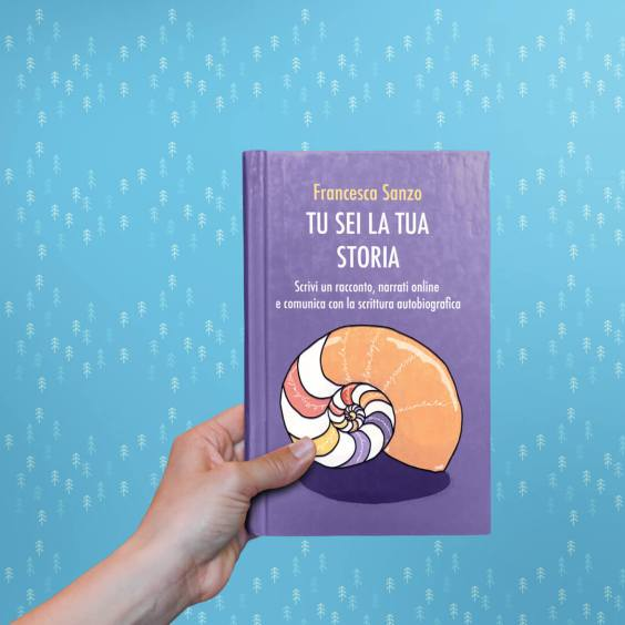 cover illustration for tu sei la tua storia, a book by francesca sanzo published by giraldo
