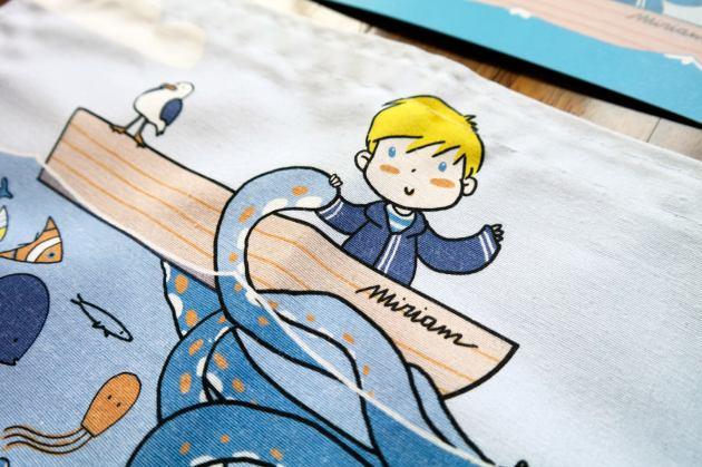 Children illustration fabric print