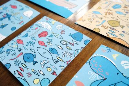 Sea illustration mini-prints