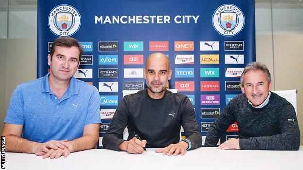 Pep Guardiola signs new Manchester City contract
